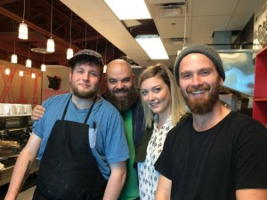 From left, Brad Hafner, Mark Bellows, Kelsey Trites and Ryan Brodziak are ready for crowds to descend upon The Local Omnivore, a new restaurant in central Edmonton.